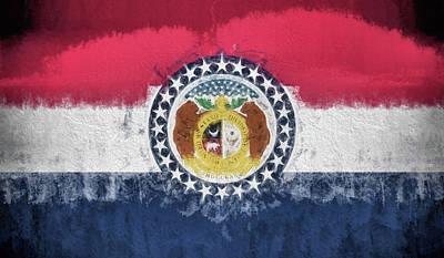 Digital Art - The Missouri Flag by JC Findley