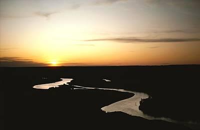 The Missouri Rivers Silvery Surface Art Print