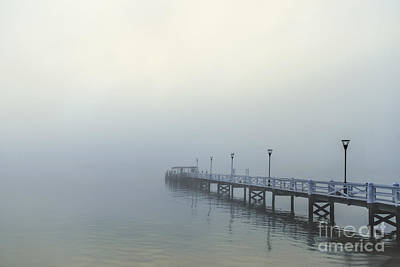 Photograph - The Mist That Hides Your Trace by Evelina Kremsdorf