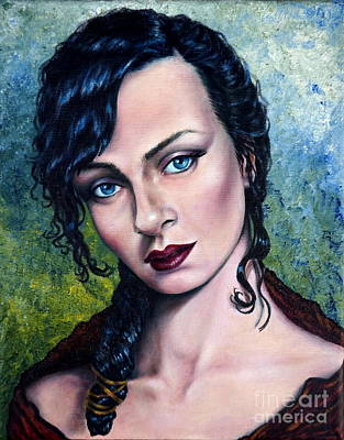 Pale Complexion Painting - The Mistress by Georgia's Art Brush