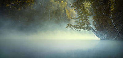 Photograph - The Mists Of Hunt Lake by Stuart Deacon