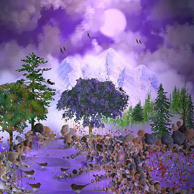 Digital Art - The Misty Happy Trail by Artful Oasis