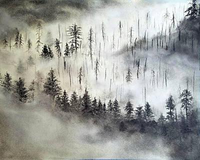 The Misty Mountain Art Print
