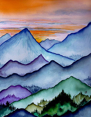 The Misty Mountains Art Print