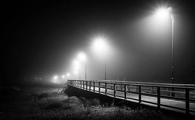 Photograph - The Misty Walkway. by Gary Gillette