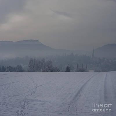 The Misty Wintery Afternoon Art Print by Angel Ciesniarska