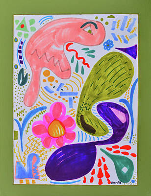 Painting - The Misunderstood Pickle by Donna Blackhall