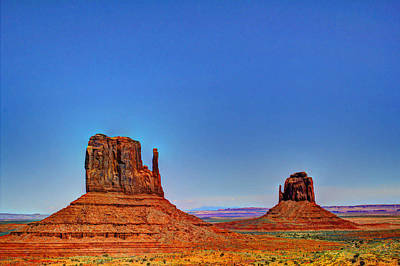 Photograph - The Mittens At Monument Valley Navaho Tribal Park by Roger Passman