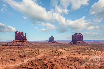 Monument Valley Photograph - The Mittens At Monument Valley by Tod and Cynthia Grubbs