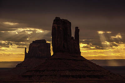 Photograph - The Mittens Sunrise by Jay Moore
