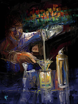 Mixed Media - The Mixologist by Russell Pierce