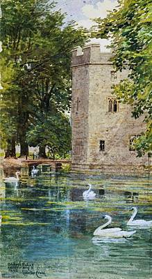 Wells Beach Painting - The Moat And Bishop by MotionAge Designs