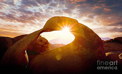 Photograph - The Mobius Arch - Alabama Hills, California by Jerome Obille