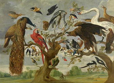 Meadowlark Wall Art - Painting - The Mockery Of The Owl by Jan van Kessel