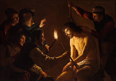 Baptism Painting - The Mocking Of Christ by Gerrit van Honthorst