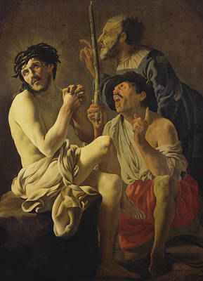 The Mocking Of Christ  Art Print by Hendrick Ter Brugghen