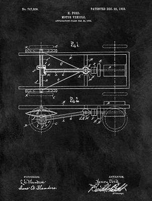 The Model T Patent Art Print by Dan Sproul