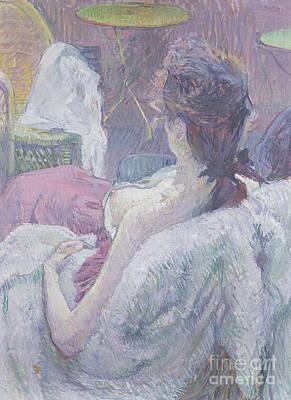 Pastel - The Model's Rest by Henri de Toulouse-Lautrec