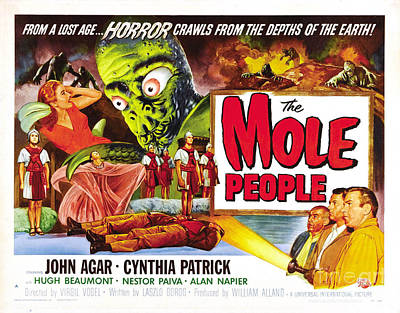 Painting - The Mole People Classic Horror Movie by R Muirhead Art