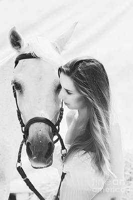 Horses Photograph - The Moment by Clare Bevan