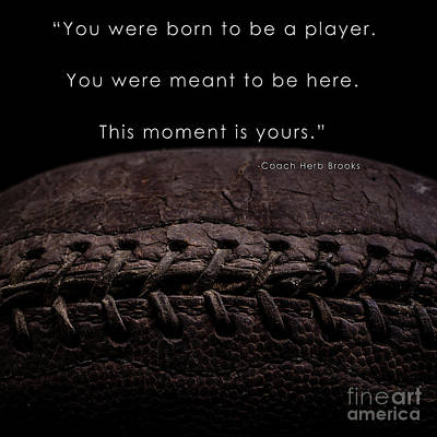 Footballs Closeup Photograph - The Moment Is Yours by Edward Fielding
