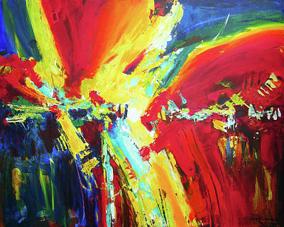 Abstract Art Painting - The Moment by Joseph Catanzaro