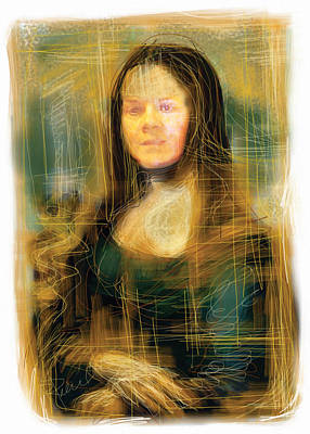 Mixed Media - The Mona Lisa by Russell Pierce