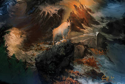 Mountain Goat Digital Art - The Monarch by J Griff Griffin