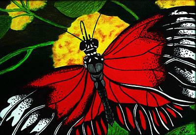 Antennae Drawing - The Monarch by Ramneek Narang