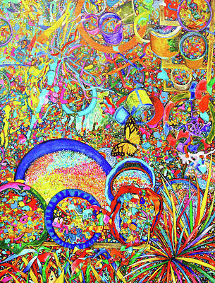 Painting - The Monarch's Garden by Yvonne Beatty