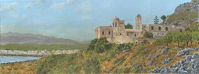 The Monastery Of Gonia Kolymbari Crete Original by David Capon