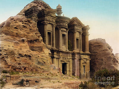 The Monastery Petra Art Print by Celestial Images