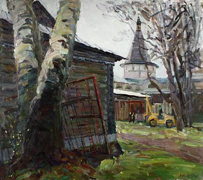 The Monastery Yard Original by Juliya Zhukova