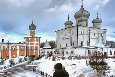 Pyrography - The Monastery by Yury Bashkin