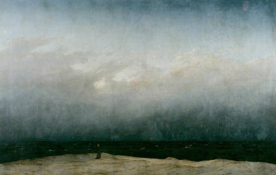 Painting - Monk By The Sea  by Caspar David Friedrich