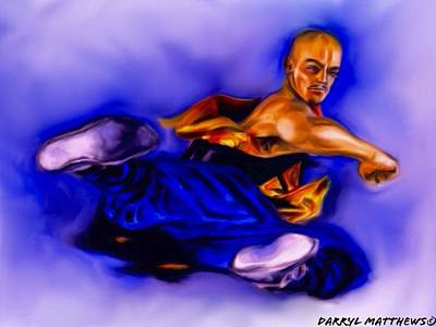 Painting - The Monk  Kick. by Darryl Matthews
