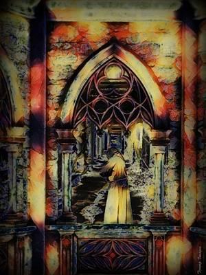 Digital Art - The Monk by Wesley Nesbitt