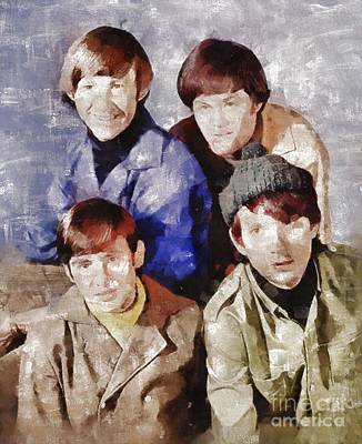 Elvis Presley Painting - The Monkees by Mary Bassett