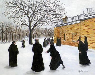 Painting - The Monks Of Clear Creek Abby by RB McGrath