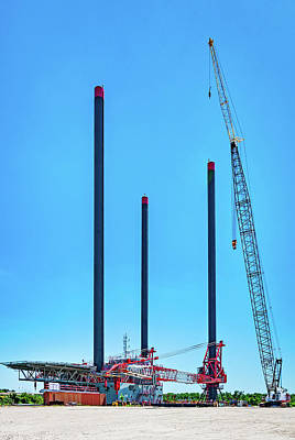 Tower Crane Photograph - The Monster by Steve Harrington