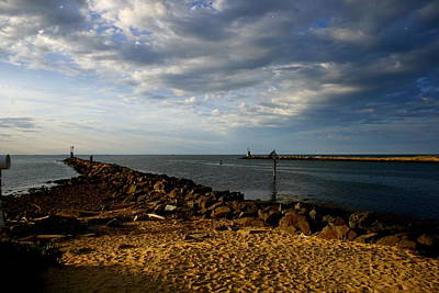 Photograph - The Montauk Inlet Jetties by Christopher Kirby