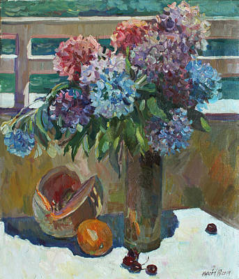 Painting - The Montenegrin Hydrangea by Juliya Zhukova