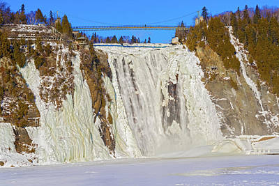 Photograph - The Montmorency Falls In Quebec, Canada. by Marek Poplawski