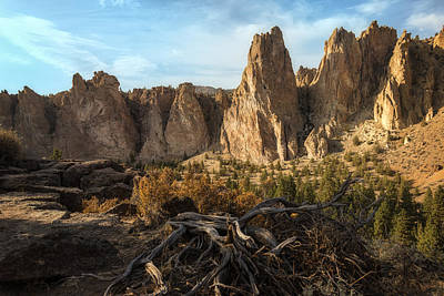 Photograph - The Monument At Smith Rock by Jon Ares