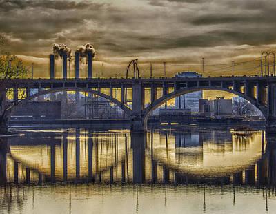 The Mood Through The Third Avenue Bridge Art Print by Bill Tiepelman