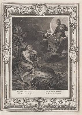 The Moon And Endymion Art Print by Celestial Images
