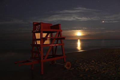 Photograph - The Moon And Mars by Mandy Shupp