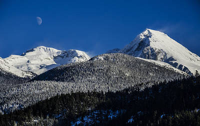 British Columbia Photograph - The Moon And The Wedge by Pelo Blanco Photo