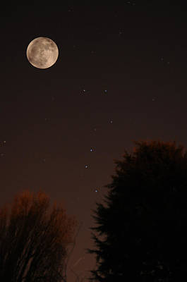 Photograph - The Moon And Ursa Major by Chris Day