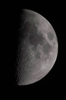 Photograph - The Moon At 54.3 Percent Full by Kenneth Cole